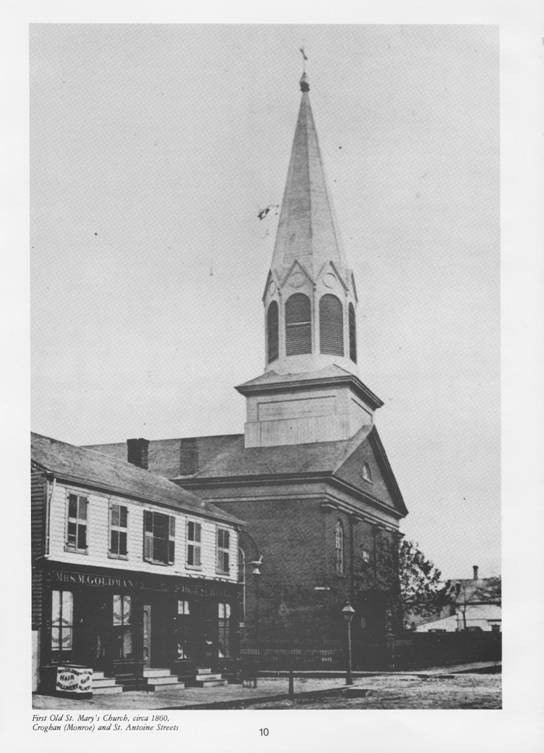 Old St. Mary's in 1860s